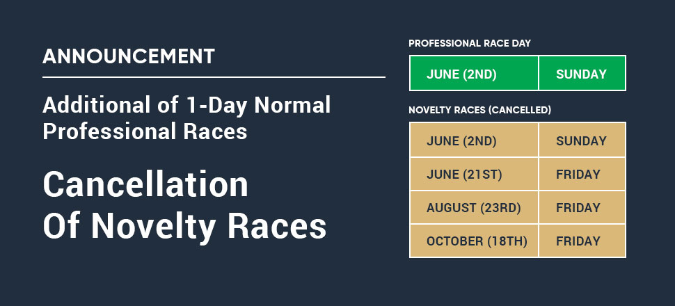 Novelty Races Cencelled
